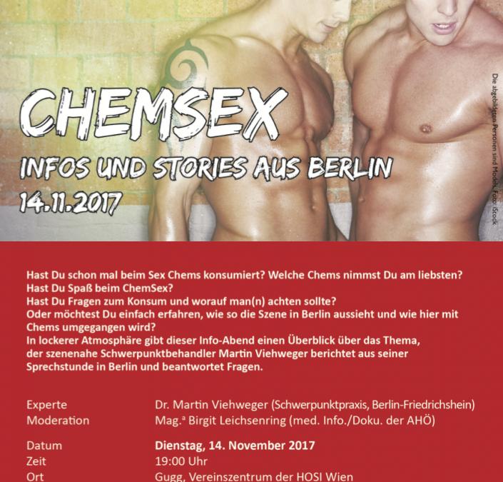 """Veranstaltung """"ChemSex Infos und Stories aus Berlin"""" im November"""