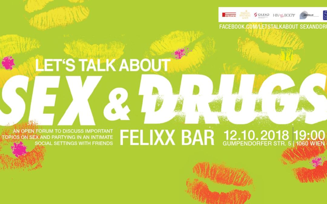 """Event """"Let's talk about Sex and Drugs"""" am Freitag, 12.10.2018"""